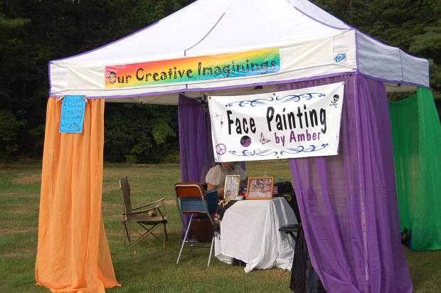 Our Creative Imaginings Tent at the Ren Faire 2012